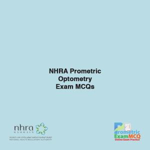NHRA Prometric Optomtery Exam MCQs
