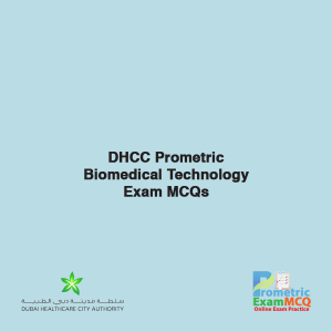 DHCC Prometric Biomedical Technology Exam MCQs