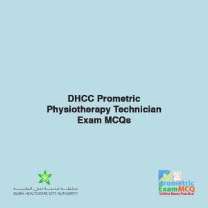 DHCC Prometric Physiotherapy Technician Exam MCQs