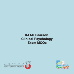 HAAD Pearson Clinical Psychology Exam MCQs