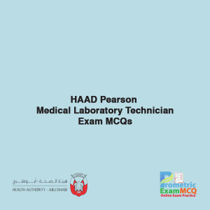 HAAD Pearson Medical Laboratory Technician Exam MCQs