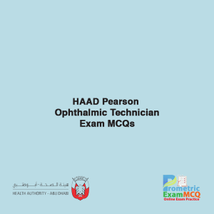 HAAD Pearson Ophthalmic Technician Exam MCQs