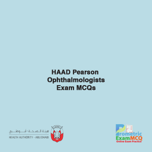 HAAD Pearson Ophthalmologists Exam MCQs
