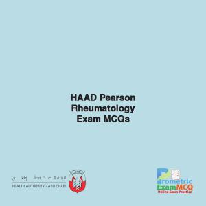 HAAD Pearson Rheumatology Exam MCQs
