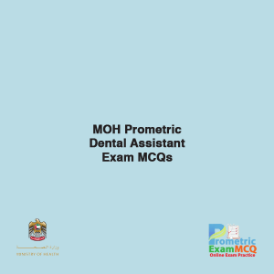 MOH Prometric Dental Assistant Exam MCQs