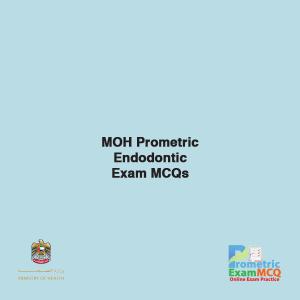 MOH Prometric Endodontic Exam MCQs