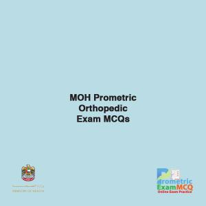 MOH Prometric Orthopedic Exam MCQs