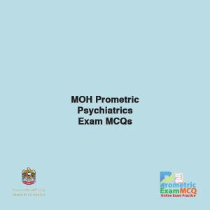 MOH Prometric Psychiatrics Exam MCQs
