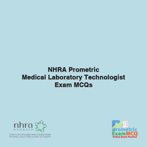 NHRA Prometric Medical Laboratory Technologist Exam MCQs