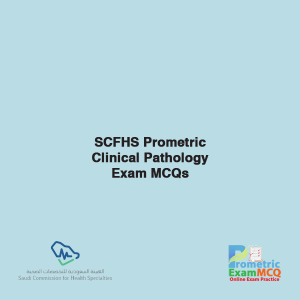 SCFHS Prometric Clinical Pathology Exam MCQs