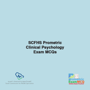 SCFHS Prometric Clinical Psychology Exam MCQs