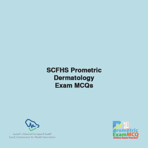 SCFHS Prometric Dermatology Exam MCQs