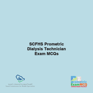 SCFHS Prometric Dialysis Technician Exam MCQs