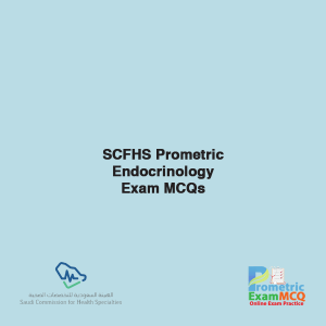 SCFHS Prometric Endocrinology Exam MCQs
