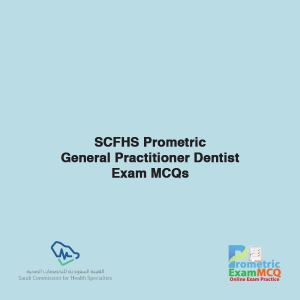 SCFHS Prometric General Practitioner Dentist Exam MCQs