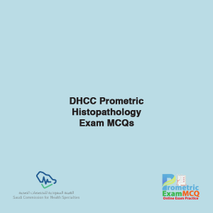 SCFHS Prometric Histopathology Exam MCQs