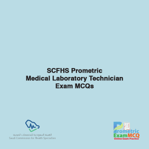 SCFHS Prometric Medical Laboratory Technician Exam MCQs