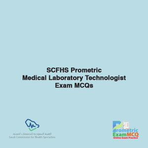 SCFHS Prometric Medical Laboratory Technologist Exam MCQs