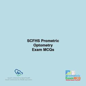 SCFHS Prometric Optometry Exam MCQs