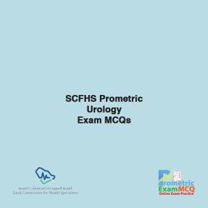 SCFHS Prometric Urology Exam MCQs