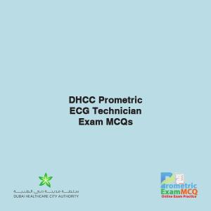DHCC Prometric ECG Technician Exam MCQs