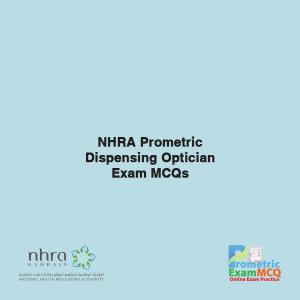 NHRA Prometric Dispensing Optician Exam MCQs
