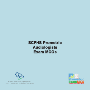 SCFHS Prometric Audiology Assistant Exam MCQs