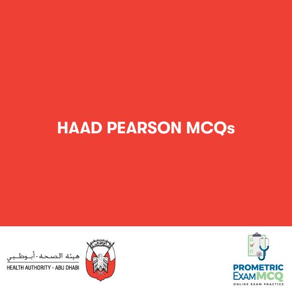 HAAD PEARSON MCQS