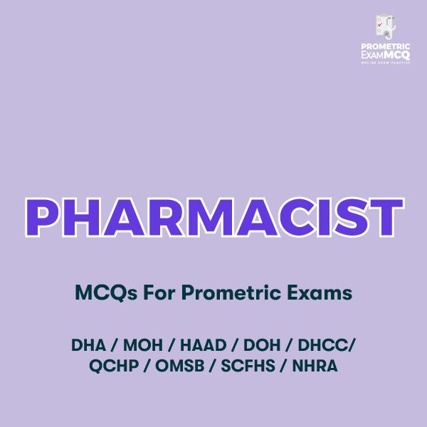 Pharmacist MCQs for Prometric Exams