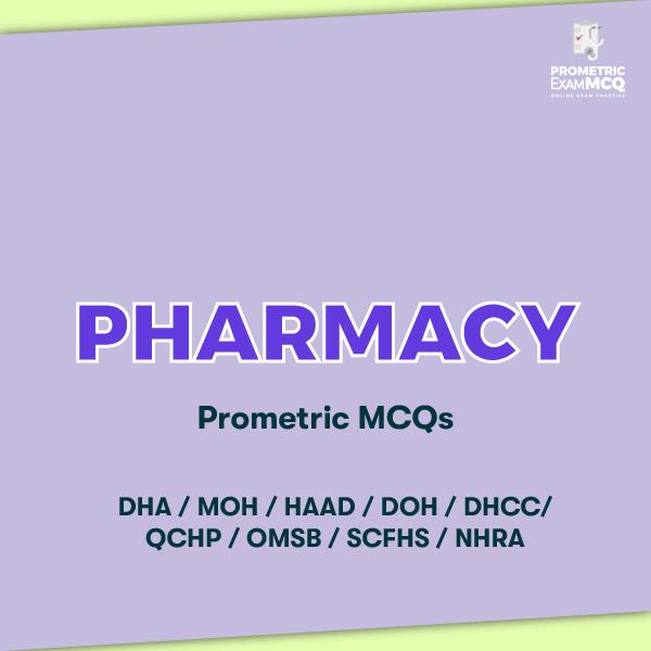 Pharmacy Prometric MCQs